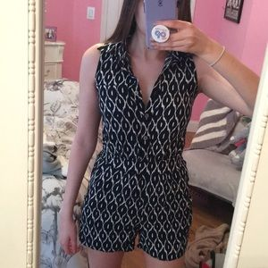 Button Up Romper - XS - LIKE NEW